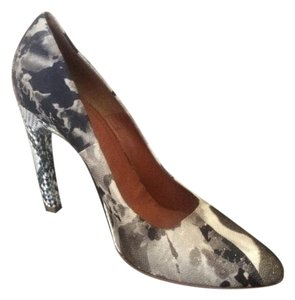 Dries van Noten Abstract Python Stiletto Unique Black, White, Grey Pumps