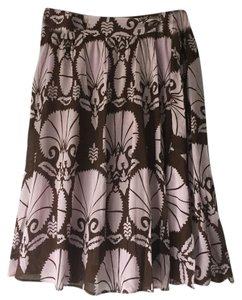 H&M Wrap Lined A-line Boho Skirt Lavendar and brown