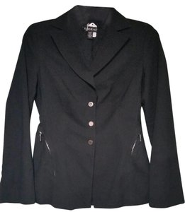 bebe Zippered Fitted black Jacket