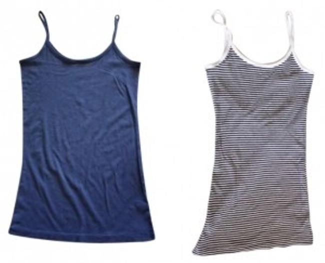 Banana Republic Spaghetti Strap Top L: Blue; R: Black/white