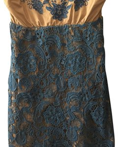 Flying Tomato short dress Taupe & Blue on Tradesy