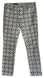 J.Crew Capris Navy Blue and White