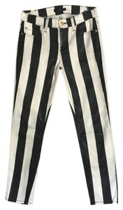 7 For All Mankind Capris Black /White Stripe