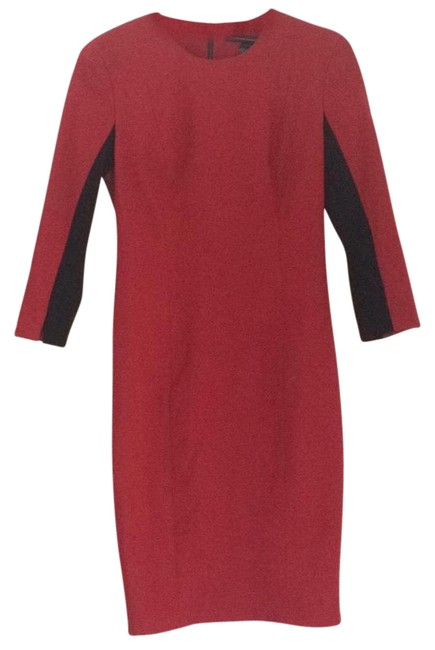 Preload https://img-static.tradesy.com/item/15663934/french-connection-red-and-black-knee-length-workoffice-dress-size-6-s-0-2-650-650.jpg