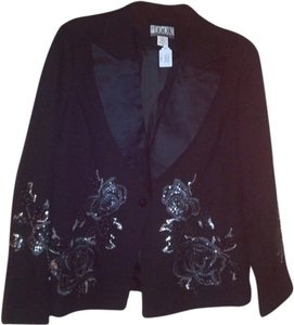 Randolph Duke Beaded Formal Black Blazer