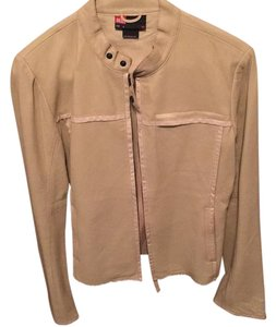 Diesel Beige Leather Jacket