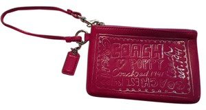 Coach Small Tiny Wristlet in Magenta