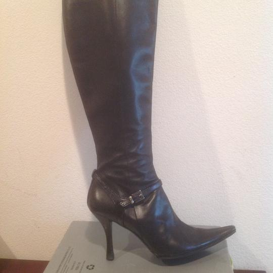 Kenneth Cole Cure Front Strap Buckle Black Boots