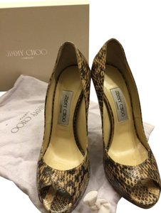 Jimmy Choo Worn Once Practically New Snakeskin (nude) Pumps