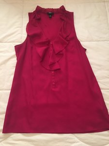 Mossimo Supply Co. Ruffled Sleeveless Size Small Top Pink