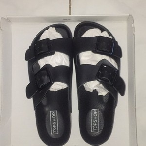 Topshop Fang Sandals Slip On Sandals Black Platforms