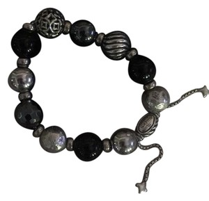 David Yurman David Yurman Bead adjustable bracelet Silver, Black and Gunmetal