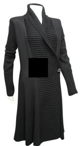Giorgio Armani Women Sweater Sweater Long Jacket Knit Sweater Trench Coat