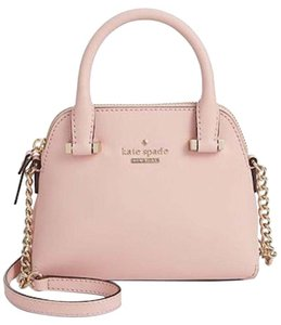 Kate Spade Leather Pink Gold Maise New Cross Body Bag