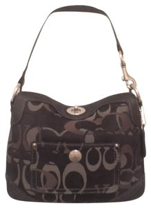 Coach Wristlet Signature/logo Leather/suede Hobo Handbag Shoulder Bag