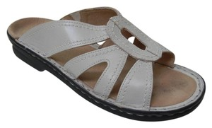 Clarks Comfortable Mule Leather Off white Sandals
