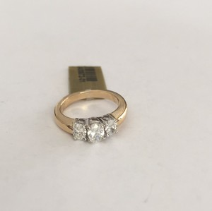Steal - 14k Gold & 2/3 Diamond 3 Stone Ring - Past, Present & Future, Wedding, Anniversary