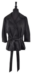 Badgley Mischka 3/4 Sleeve Belted Black Jacket