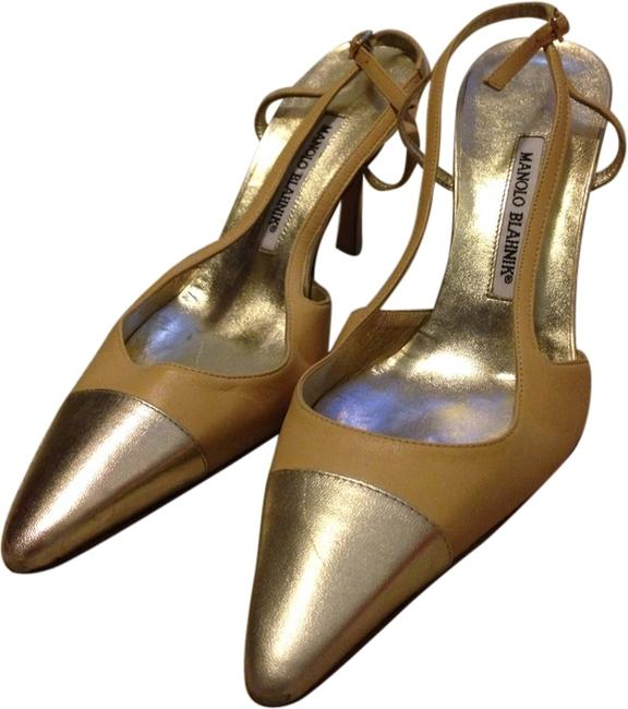 Item - Nude/Gold Pumps Size US 9.5 Narrow (Aa, N)
