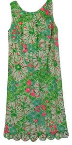 Lilly Pulitzer short dress Green/pink/white on Tradesy