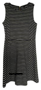 J.Crew short dress Black and White Fit Flare on Tradesy