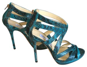 Jimmy Choo Collar Elaphe Sandals