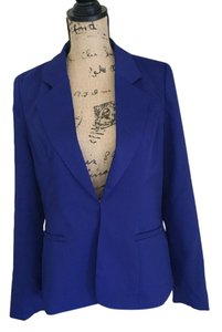 Pink Owl Royal Blue Blazer