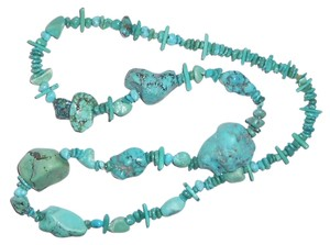 24 inch's of Real Turquoise, With Huge Stones... The Biggest Being Over One Inch Wide .. No Clasp