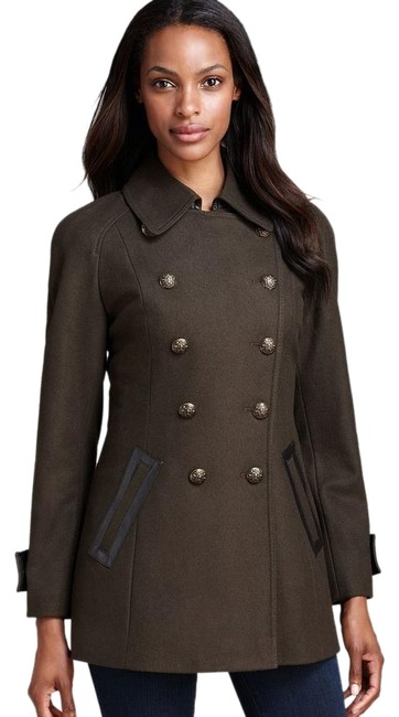 Preload https://img-static.tradesy.com/item/1566782/dkny-military-green-faux-leather-trim-double-breasted-wool-blend-coat-size-4-s-0-2-650-650.jpg