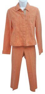 Ellen Tracy COMPANY ELLEN TRACY STRETCHY COTTON BLEND ORANGE PANT SET 4