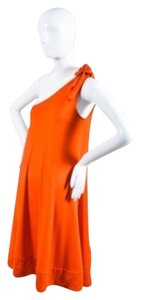 Diane von Furstenberg Swing Asymmetrical One Coral A-line Dress