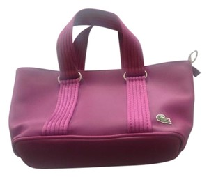 Lacoste Vegan With Keyholder Satchel in Purple
