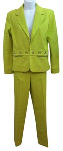 St. John Sport by Marie Gray ST. JOHN SPORT CHARTREUSE STRETCHY COTTON BLEND PANT SET 6