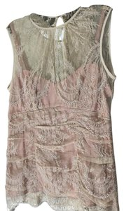 Nanette Lepore Lace Sleeveless Top Nude