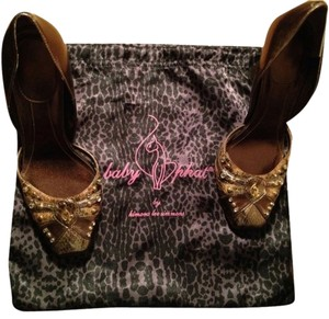 Baby Phat Brown, Gold, Diamond Pumps