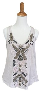 Ecote Beaded Top cream