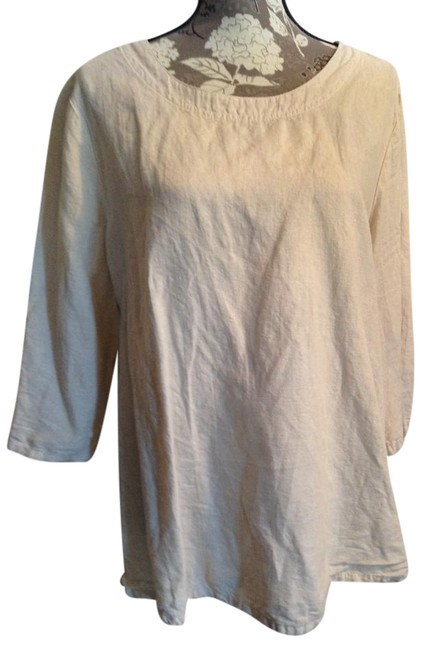 Item - Flax Relaxed Linen Blend Blouse Size 20 (Plus 1x)