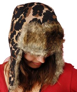 Betsey Johnson Lyndsey Leopard Faux Fur Trapper Hat