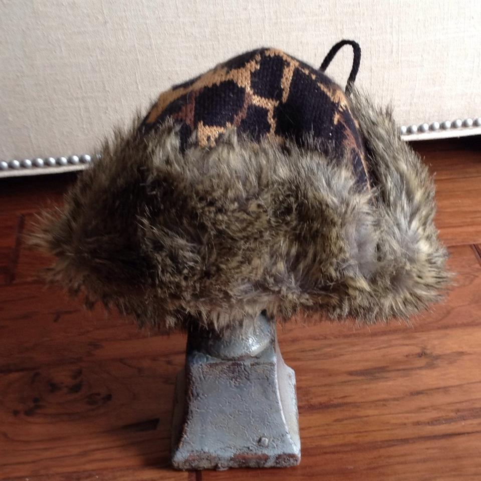 Betsey Johnson Browns Metalic Carmel Lyndsey Leopard Faux Fur ... 32c648176412