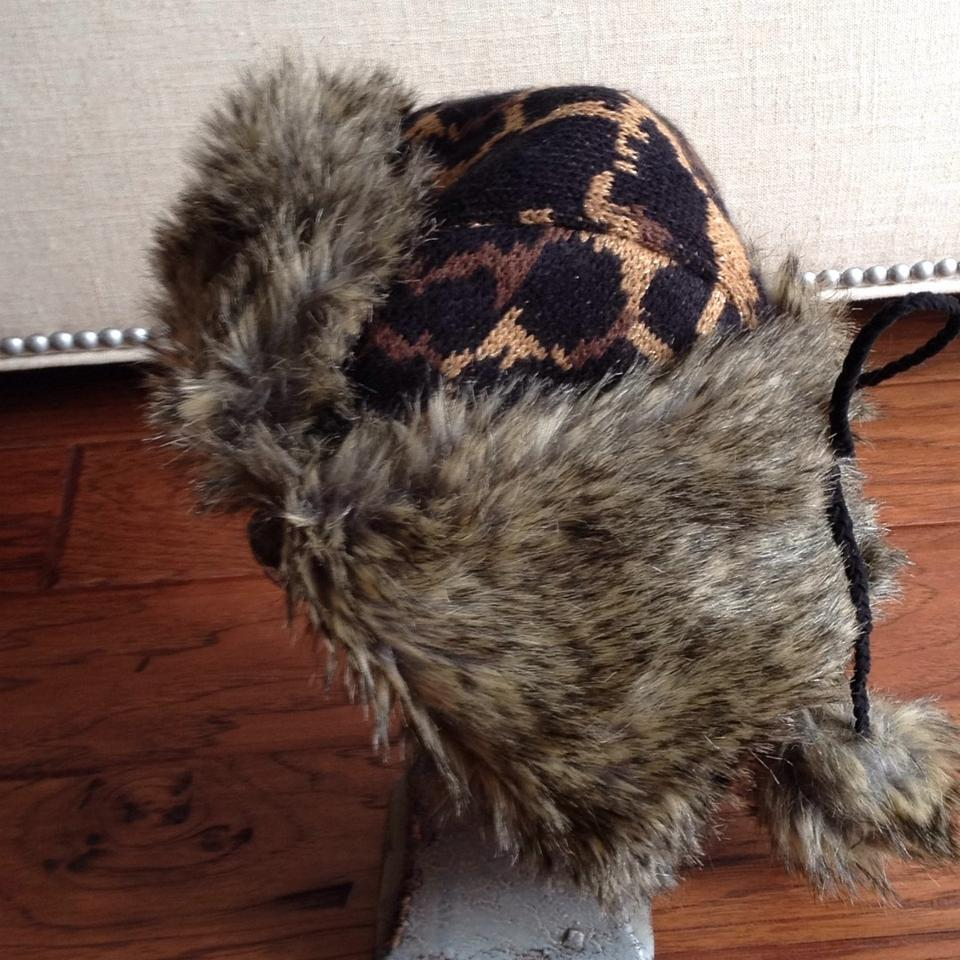 Betsey Johnson Browns Metalic Carmel Lyndsey Leopard Faux Fur Trapper Hat -  Tradesy 4ac45b81db12