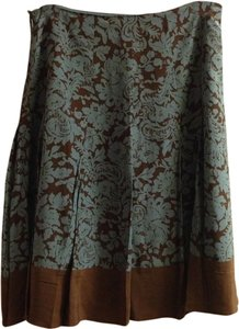 Putumayo Skirt Blue/brown Print