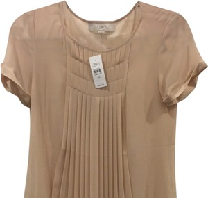 Ann Taylor LOFT Top Tan Neutral Nude