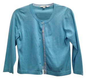 Boden Cotton Nylon Blue Cardigan