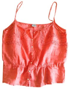 Lucky Brand Eyelet Top Peach