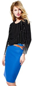 J.Crew Festival Royal Cobalt Wool Winter Skirt Blue