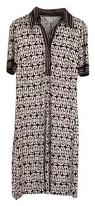 Trina Turk short dress Brown and creme print on Tradesy
