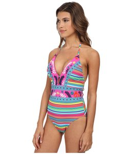 Nanette Lepore Nanette Lepore froral embroidered swimsut one piece size M