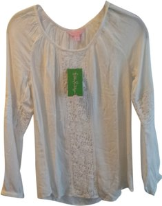 Lilly Pulitzer Briony Lace Preppy Top white