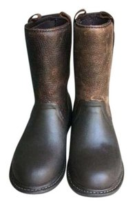 Bogs Leather Upper Durable Rubber Sole Slip Resistant Waterproof Brown Boots