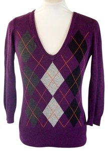 H&M Argyle Argyle Diamond Preppy Sweater